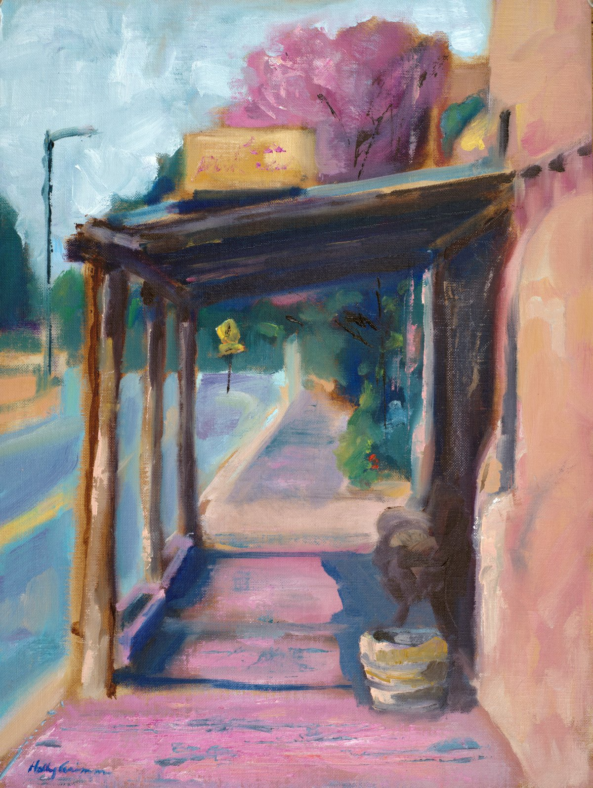 Plein Air, Pink Adobe, Apr 15 '16