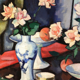 Samuel Peploe Still Life with Roses in a Chinese Vase